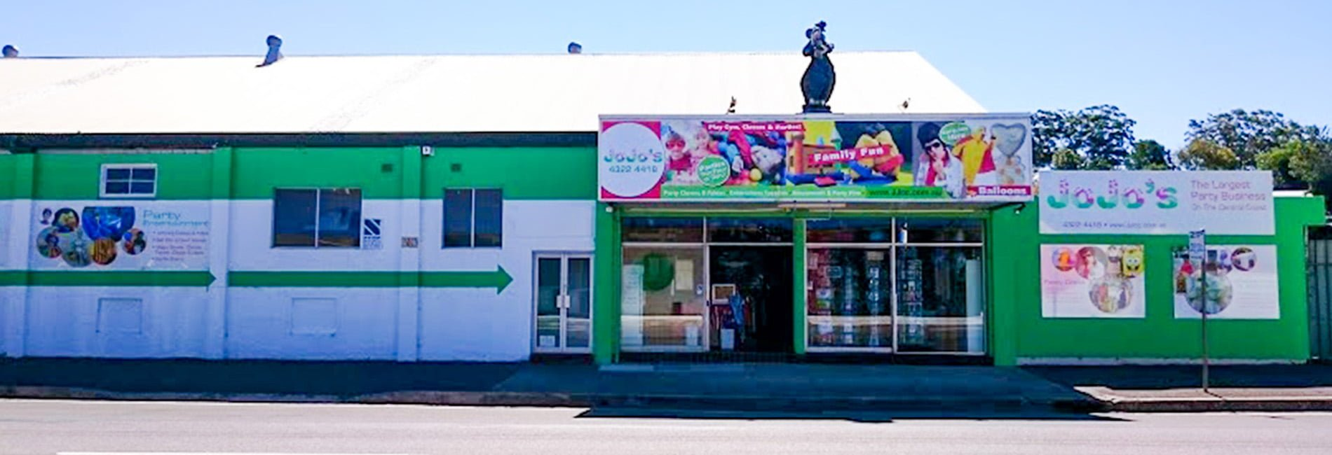 Our shop viewed from across Mann Street