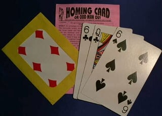 Homing Card or Odd Man Out