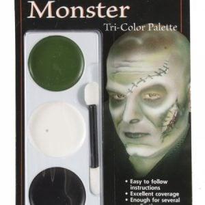 Tri Colour Make Up Palette Monster