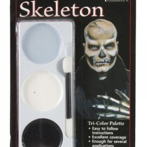 Tri Colour Make Up Palette Skeleton