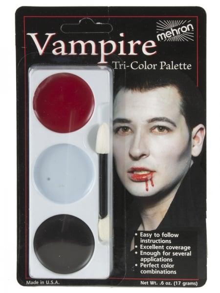 Tri Colour Make Up Palette Vampire