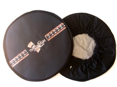 African Print Djembe Head Cover