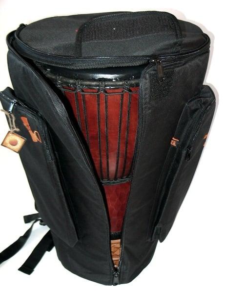 Black 3 Zip Djembe Bag