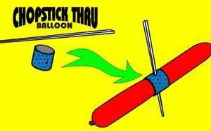Chopstick Through Balloon