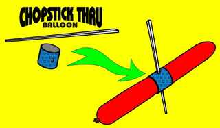 Chopstick Through Balloon