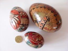 Small Wooden Egg Shaker - Hand Calligraphy Decorated