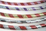 Adult Thin Holographic/Stripe Circus Hoop
