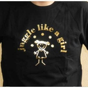 Juggle Like a Girl Black T-Shirt