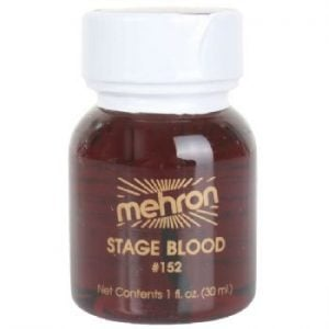 Mehron Bright Red Stage Blood With Brush (30ml)