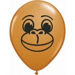 "5"" Monkey Face Balloon 100pk"