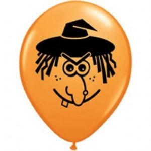 "5"" Witch Face Balloon  100pk"