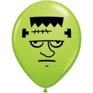 "5"" Frankenstein Face Balloon  100pk"