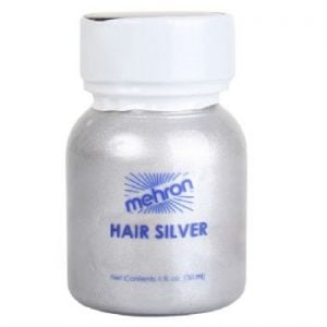 Mehron Hair Silver With Brush (30ml)