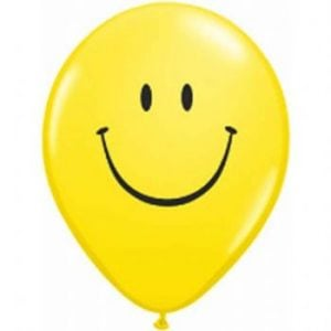 "05"" Yellow Smile Face Balloon 100pk"
