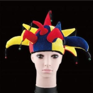Multicoloured Jester Hat With Bells