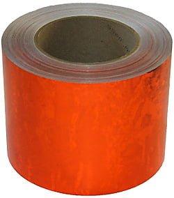 Orange Liquid Effect Holographic Tape 100mm