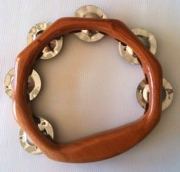 Solid Timber Tambourine