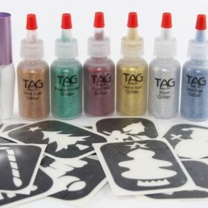 Christmas Glitter Tattoo Kit (20pk)