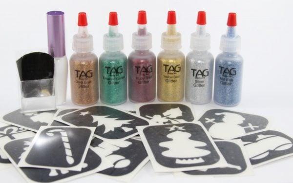 Christmas Glitter Tattoo Kit (20pk)